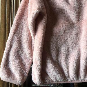 Uniqlo Jackets & Coats - •UNIQLO• Pink Fluffy Yarn Fleece Girl Jacket 11-12